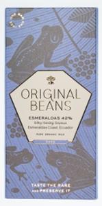 Original Beans Esmeraldas 42% Bio Milchschokolade