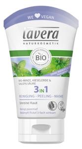 3In1 Reinigung, Peeling, Maske Bio-Minze