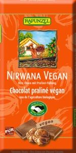 Nirwana Vegan Schokolade mit Praliné-Füllung HIH
