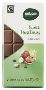 Ganze Haselnuss Schokolade, Vollmilch