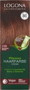 Pflanzenhaarfarbe maronenbraun - Creme