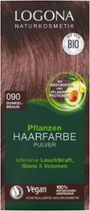 Pflanzen Haarfarbe Pulver 090 dunkelbraun