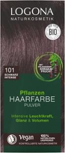 Pflanzenhaarfarbe schwarz intense - Pulver