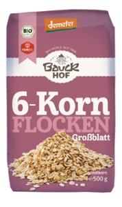 6-Korn Flocken ohne Weizen Demeter