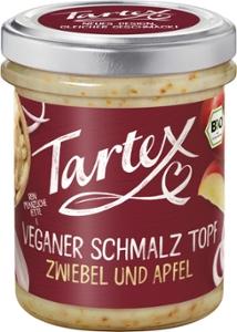 Veganer Schmalz Topf Zwiebel und Apfel