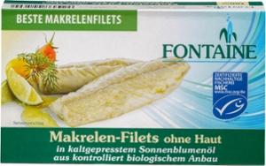 Makrelen-Filets o. Haut, o. Gräten i. Sonnenbl.öl