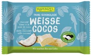 Weiße Cocos Schokolade mit Kokosstückchen HIH