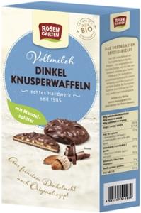 Dinkel-Knusperwaffeln   Vollmilch-Mandel