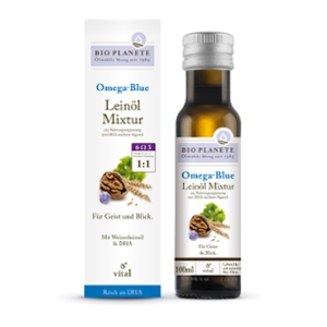 Omega Blue Leinöl-Mixtur zur Nahrungsergänzung