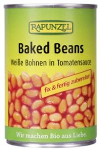 Baked Beans in der Dose, weiße Bohnen in Tomaten