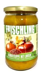 Frischling Bio-Kürbissuppe mit Linsen