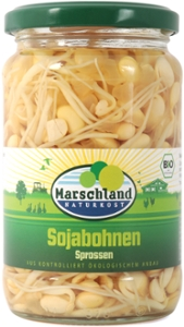 Bio-Sojabohnen Sprossen 370 ml Gl. MARSCHLAND