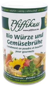 Bio Würze und Gemüsebrühe 250g Dose